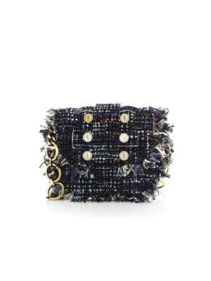 Pixel Tweed Saddle Bag
