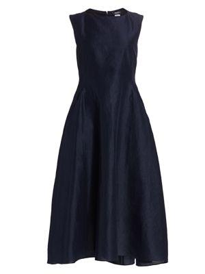 Veneto Sleeveless Boatneck Midi Dress