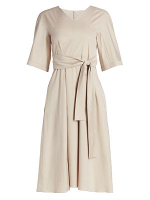 Lea Full Cotton Knotted Dress