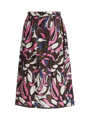 Lisa Tropical Floral Midi Skirt