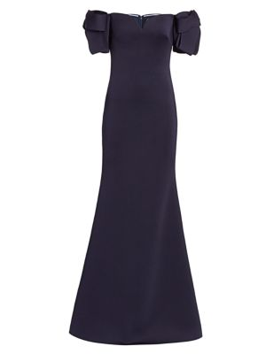 Bow-Sleeve Gown