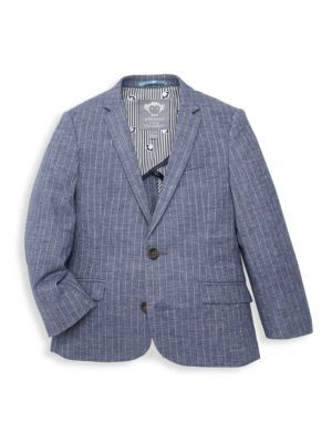 Little Boy's Pinstripe Chambray Jacket