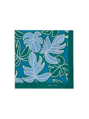 Leaves Silk Pocket Square