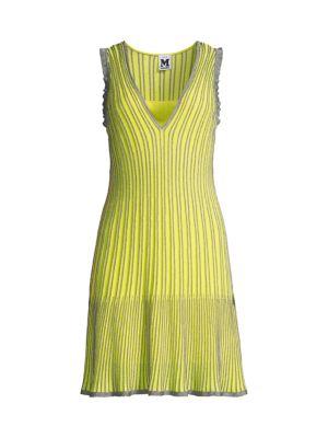Metallic Striped Knit Dress