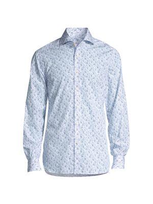 Floral Cotton Sport Shirt
