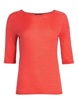 Wool & Silk Elbow-Sleeve T-Shirt