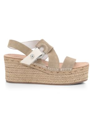 August Suede Wedge Platform Espadrille Sandals
