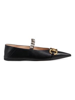 Ballet Flats with Chain and Horsebit