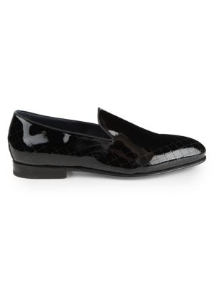 Guelfa Patent Leather Slip-On Loafers