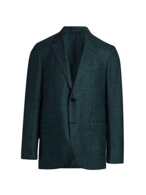 Textured Wool-Blend Sports Jacket