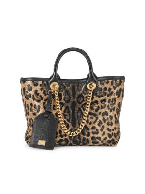 Small Capri Leopard-Print Shopper