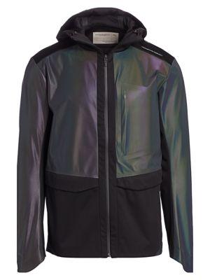 Iridescent Colorblock Full-Zip Track Jacket