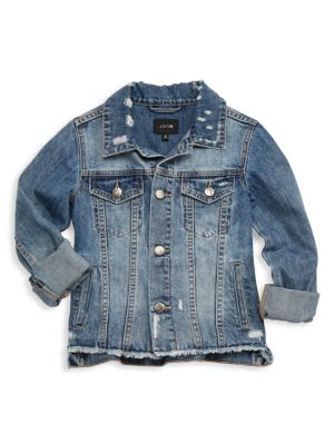 Girl's Deconstructed Denim Jacket