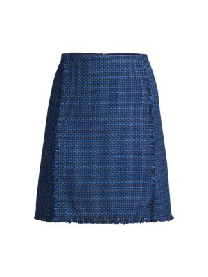 Vomanda Fringe Tweed Skirt