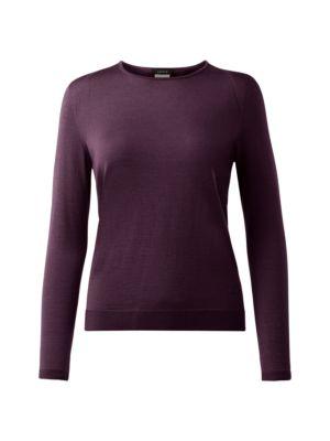 Cashmere & Silk Seamless Pullover Sweater