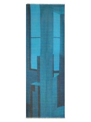 Cashmere & Silk Geometric Shawl