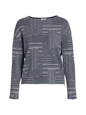 Crosshatch Cotton & Wool Sweater