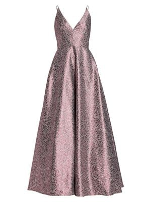 Printed Jacquard Gown