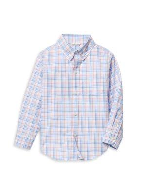 Baby's, Little Boy's & Boy's Checkered Button-Front Shirt