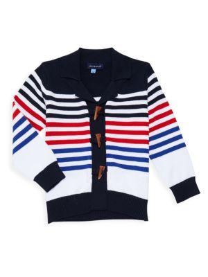Little Boy's & Boy's Striped Cardigan