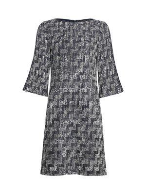 Stepped Wicker Knit Sheath Dress