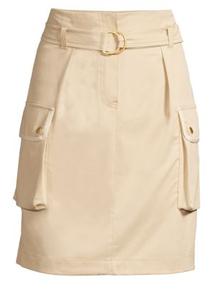 Stretch Cargo Pencil Skirt