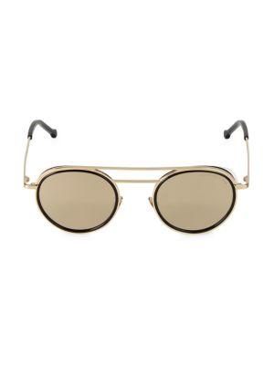 49MM Round Tinted Sunglasses