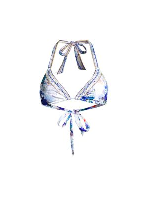 White Side of The Moon Embellished Ring Bikini Top