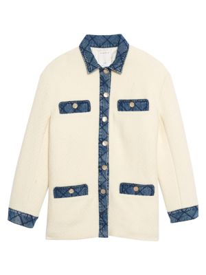 Chelby Contrast Button-Up Jacket