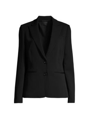 Italian Crepe Double-Breasted Jacket