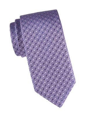 Geometric Square Silk Tie