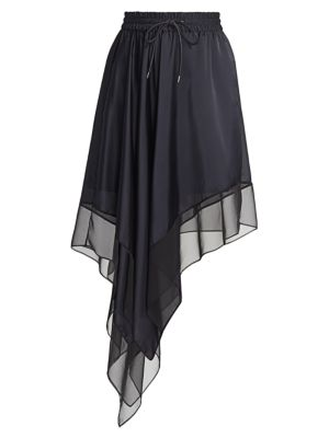 Satin & Chiffon Skirt