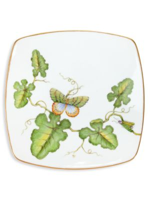 Butterfly & Dragonfly Porcelain Square Accent Plate