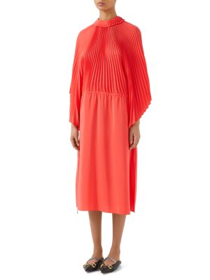 Long-Sleeve Ruffle-Sleeve Dress