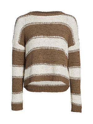 Stripe Dropped Shoulder Sweater