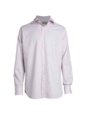 Mini Box-Print Dress Shirt