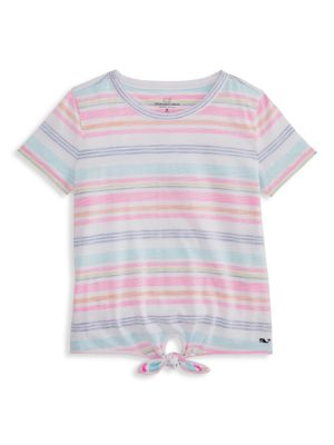 Little Girl's & Girl's Striped Front-Knot T-Shirt