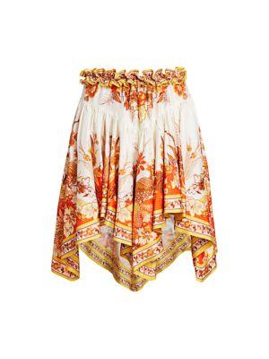 Brightside Placement Silk Handkerchief Mini Skirt