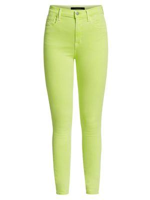 Alana High-Rise Neon Crop Skinny Jeans