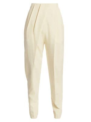 Pleated High-Waist Trousers