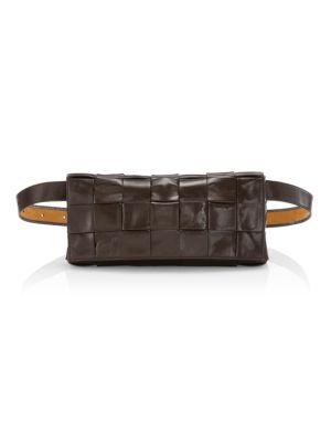 Woven Leather Belt Bag
