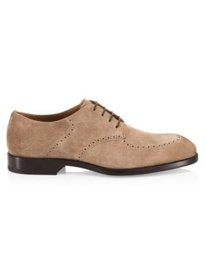 A Mon Homme Suede Derby Shoes
