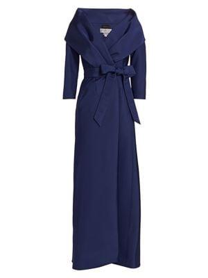 Taylor Shawl Collar Silk Gown