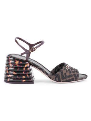 Logo Block-Heel Sandals