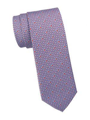Gancini Woven Silk Tie