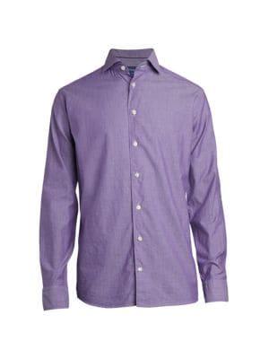 Slim-Fit Solid Dress Shirt