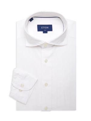Soft Casual Slim-Fit Cotton-Blend Shirt