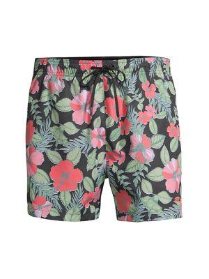 Hawaii Floral Swim Trunks
