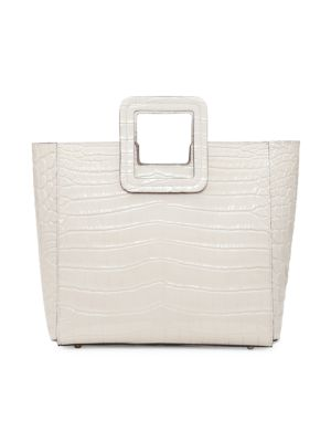 Shirley Croc-Embossed Leather Tote