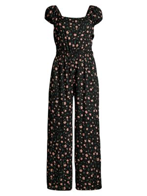 Manhattan Botanical Open Back Jumpsuit